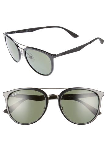 Ray-Ban 55Mm Retro Polarized Sunglasses - Black