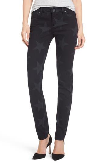 Kut From The Kloth Mia Star Print Skinny Jeans, Blue