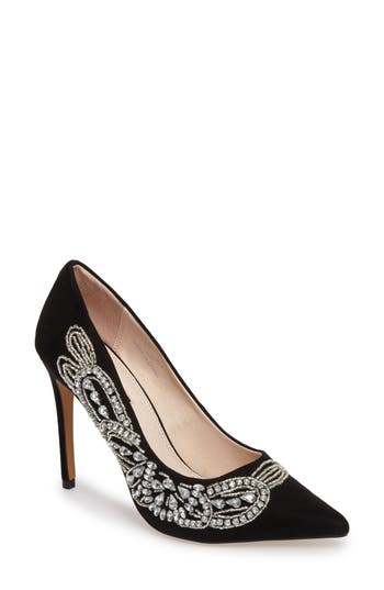Topshop April Embellished Pump - Black