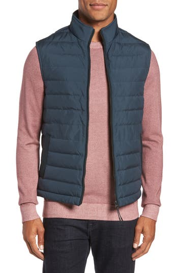 Ted Baker London Jozeph Quilted Down Vest, Blue