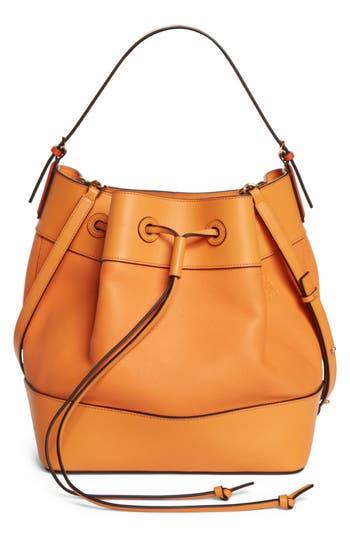 Loewe Midnight Leather Bucket Bag - Orange