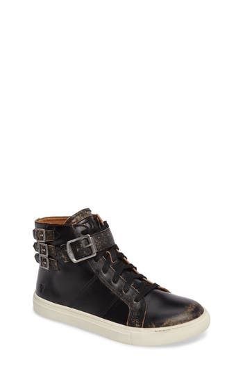 Girls Frye Dylan Buckle Strap HighTop Sneaker