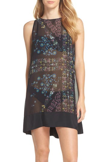Ted Baker London Unity Flora Cover-Up Tunic, Black