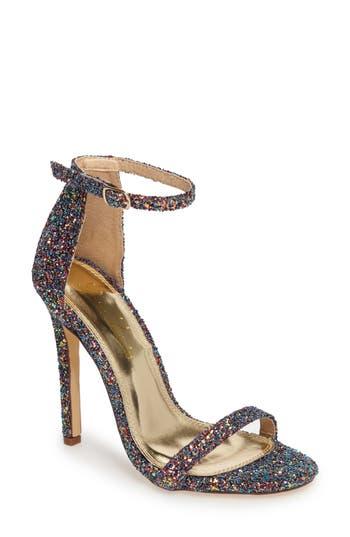 Lauren Lorraine Naomi Ankle Strap Pump- Metallic