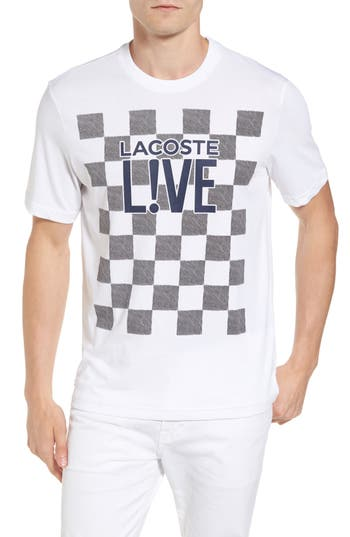 Lacoste Check Graphic T-Shirt, White