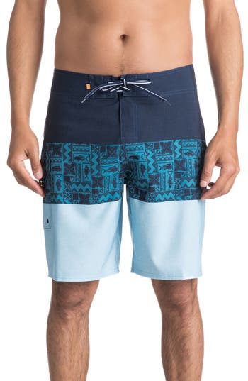 Quiksilver Waterman Collection Fairway Triblock Board Shorts, Blue