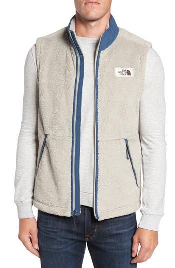 Men's The North Face Campshire Fleece Vest, Size Small - Beige