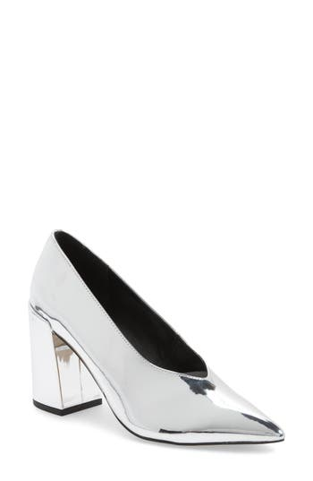 Topshop Greatal Pointy Toe Pump - Metallic