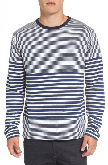 French Connection Stripe Long Sleeve T-Shirt, Blue