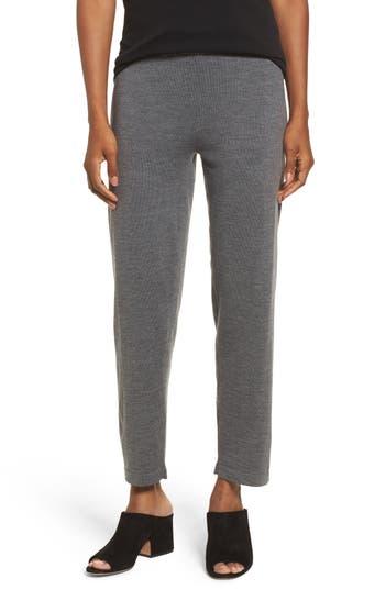 Eileen Fisher Merino Wool Ankle Pants, Grey