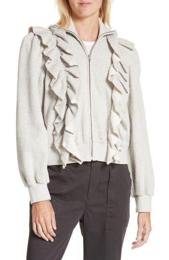 Women's La Vie Rebecca Taylor Fleece Ruffle Jacket