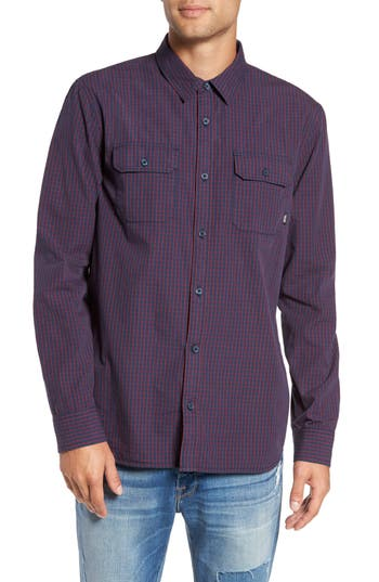 Men's Vans Palmer Windowpane Check Sport Shirt