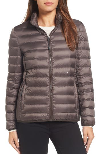 Tumi Pax On The Go Packable Quilted Jacket, Brown