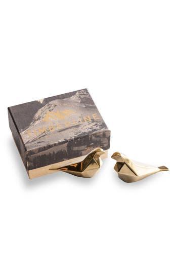 Rosanna Geometric Bird Salt & Pepper Shaker Set, Size One Size - Metallic