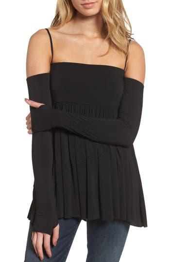 Bailey 44 Zombie Off The Shoulder Top, Black