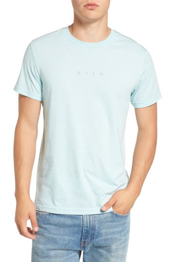 Rvca Snooze Cloud Graphic T-Shirt, Blue/green