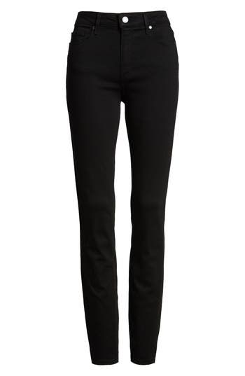 Paige Transcend - Hoxton High Waist Ultra Skinny Stretch Jeans, Black