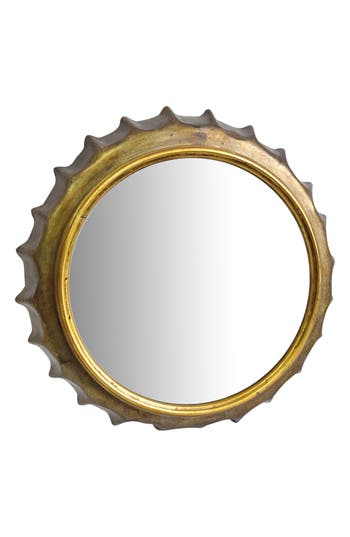 Foreside Bottle Cap Mirror, Size One Size - Metallic