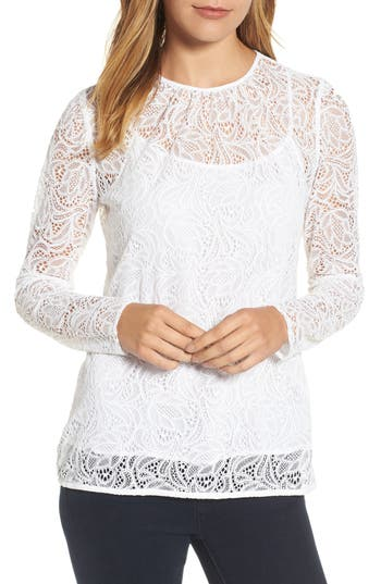Women's Michael Michael Kors Stretch Lace Overlay Tee