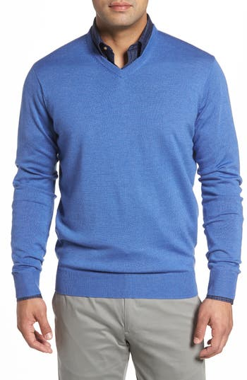 Peter Millar Merino Sweater, Blue