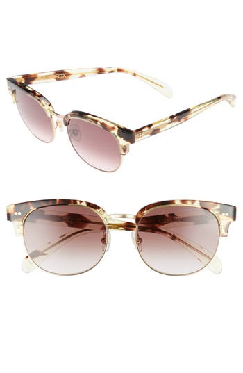 Wildfox Clubhouse 50Mm Semi-Rimless Sunglasses - Tokyo Tortoise