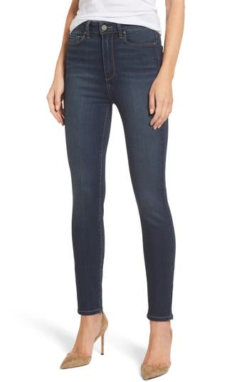Paige Transcend - Margot High Waist Ultra Skinny Jeans, Blue