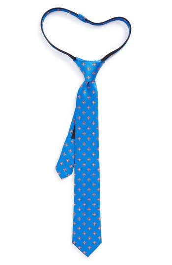 Boys Nordstrom Medallion Silk Zip Tie