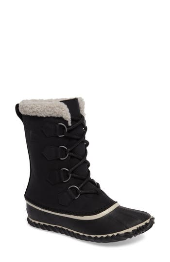 Sorel Caribou Slim Waterproof Boot, Black