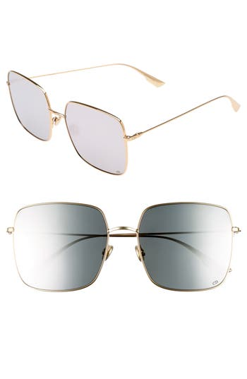 Dior Stellaire 1 5m Square Sunglasses - Gold/ Silver