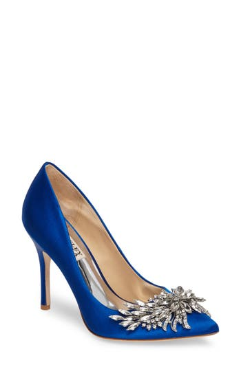 Badgley Mischka Marcela Pointy Toe Pump, Blue