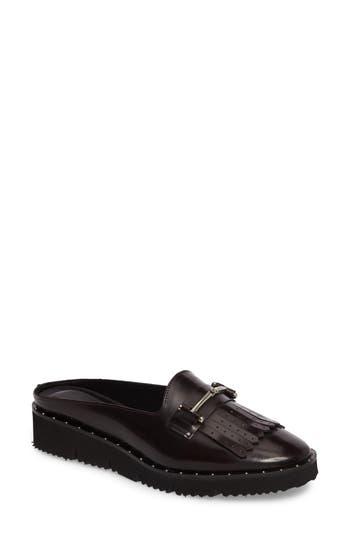 CHARLES DAVID Lorde Mule in Black Leather