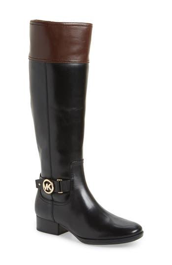 Michael Michael Kors Harland Boot, Wide Calf- Black