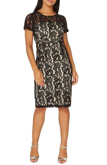 Dorothy Perkins Lace Pencil Dress, US / 8 UK - Black
