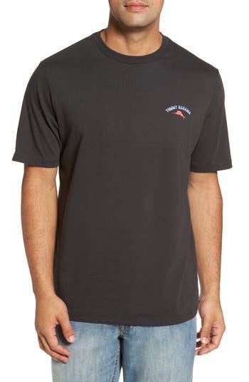 Big & Tall Tommy Bahama Outside Limebacker T-Shirt - Black