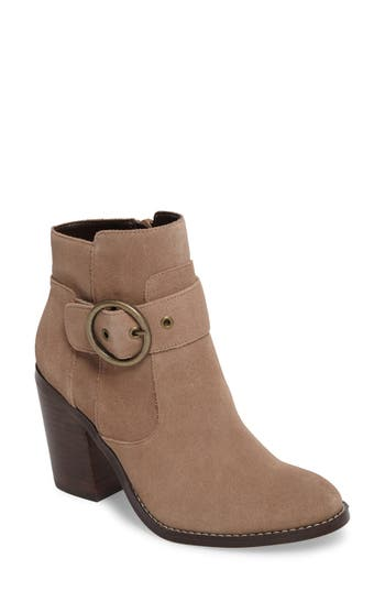 Sole Society Grove Buckle Bootie, Brown