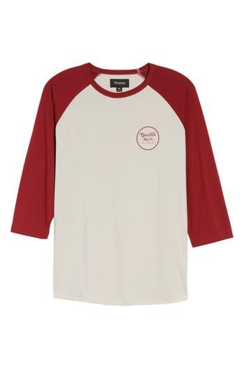 Brixton Wheeler Graphic Baseball T-Shirt, Grey