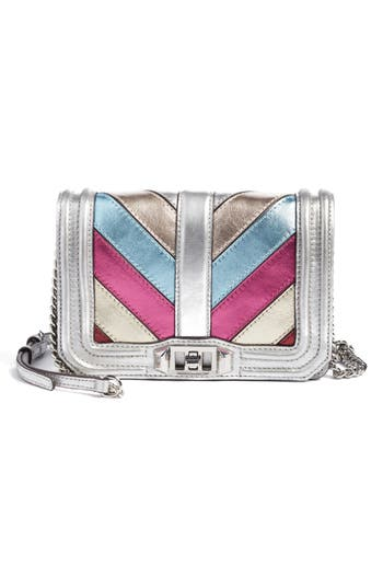 Rebecca Minkoff Small Love Patchwork Leather Crossbody Bag - Metallic