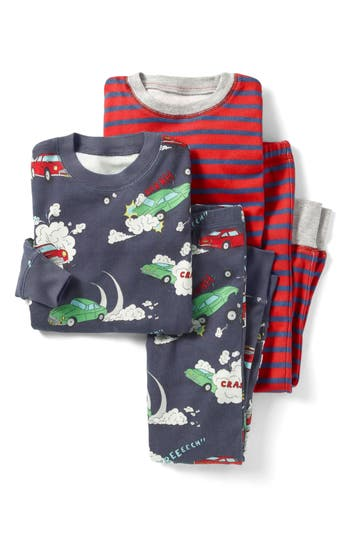 Boys Mini Boden Cosy 2Pack TwoPiece Fitted Pajamas