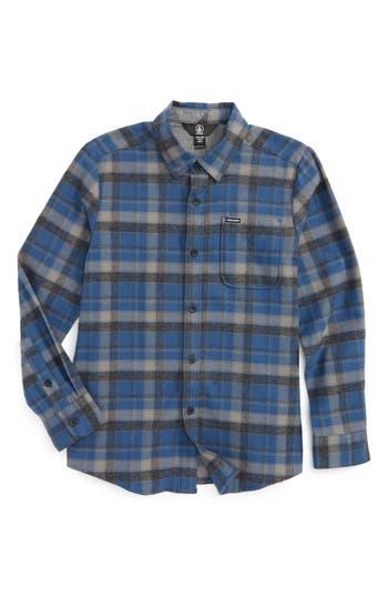 Boys Volcom Caden Plaid Flannel Shirt