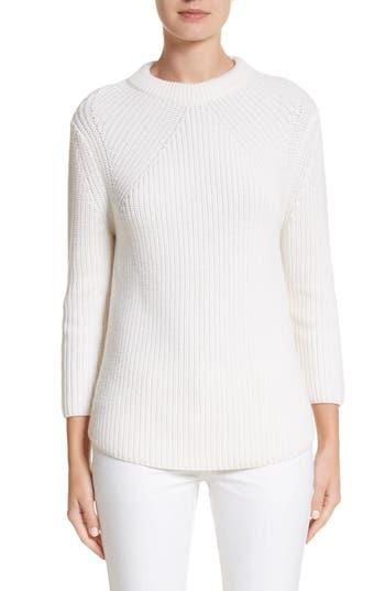 Michael Kors Merino Wool & Cotton Pullover, White