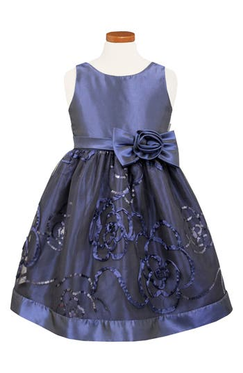 Girl's Sorbet Sequin Party Dress, Size 5 - Blue
