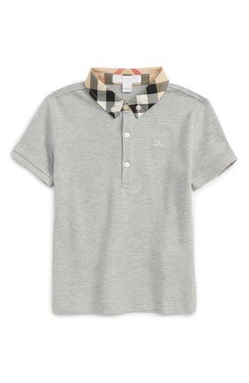 Infant Boys Burberry Check Collar Polo
