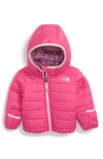 Infant Girl's The North Face 'Perrito' Reversible Water Repellent Hooded Jacket