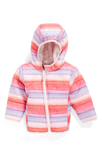 Infant Girl's The North Face 'Mossbud' Reversible Water Repellent Jacket