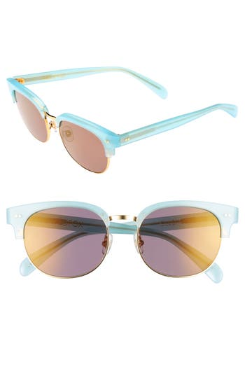 Wildfox Clubhouse 50Mm Semi-Rimless Sunglasses - Blue Tears