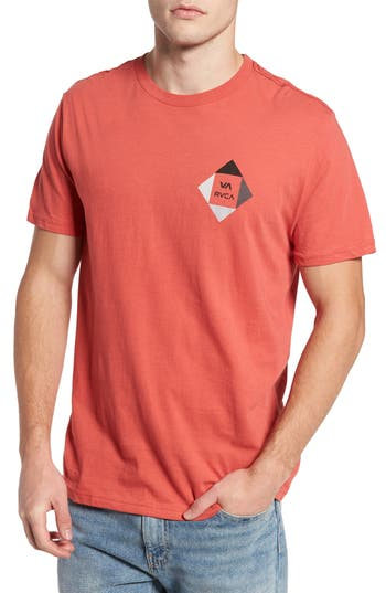 Rvca All The Way 90 Graphic T-Shirt, Red