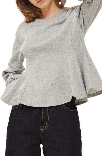 Topshop Corset Seam Sweatshirt