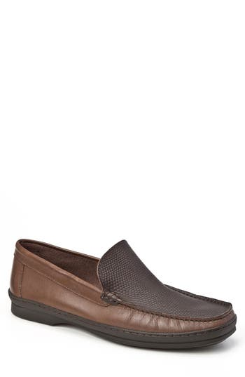 Sandro Moscoloni Torre Pebble Embossed Loafer - Brown