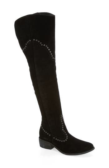Matisse Studded Western Over The Knee Boot, Black