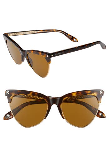 Givenchy 5m Polarized Cat Eye Sunglasses - Dark Havana